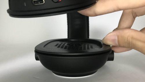 PRO X Wirelessはイヤーパッドを外すと後頭部側に向けて傾きが緩やかにある
